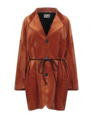 Легкое пальто HACHE. Цвет: ржаво-коричневый