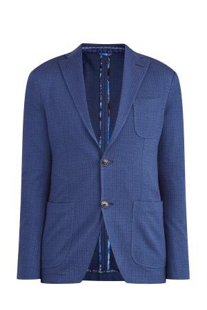 Пиджак ETRO. Цвет: синий