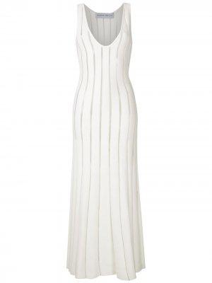 Трикотажное платье миди Gloria Coelho. Цвет: белый