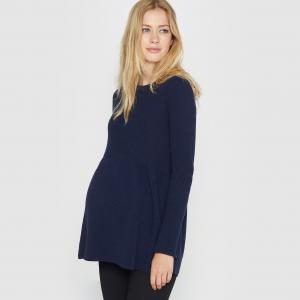 Пуловер для периода беременности La Redoute Collections. Цвет: серый меланж