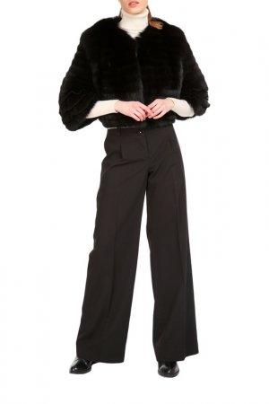 Short fur coat Manakas. Цвет: black
