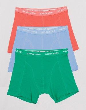 Набор из 3 боксеров-брифов -Многоцветный Bjorn Borg