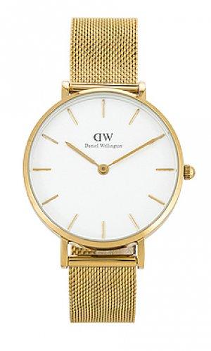 Часы petite evergold Daniel Wellington. Цвет: металлический золотой