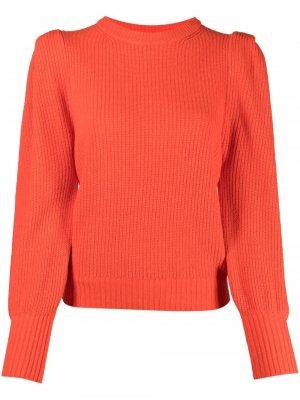 Джемпер с объемными рукавами 8pm. Цвет: оранжевый
