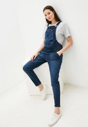 Комбинезон джинсовый Mama's fantasy. Цвет: синий