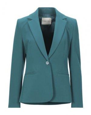 Пиджак KARTIKA. Цвет: зеленый
