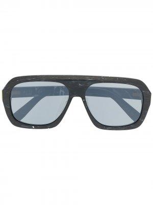 Солнцезащитные очки Ferry в прямоугольной оправе Dunhill. Цвет: серый