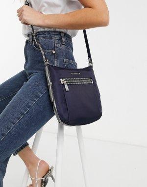 Темно-синяя сумка через плечо из нейлона Nancy-Темно-синий Fiorelli