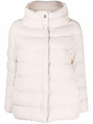 Куртка с широким воротником Herno. Цвет: нейтральные цвета