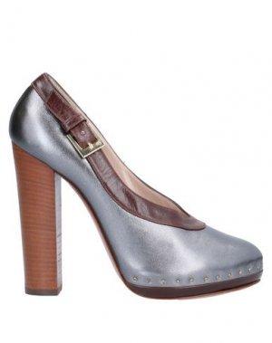 Туфли VIONNET. Цвет: стальной серый