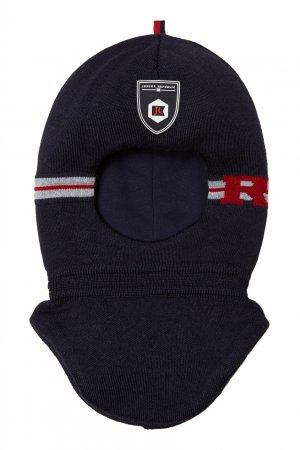 Вязаный синий шлем Junior Republic. Цвет: синий