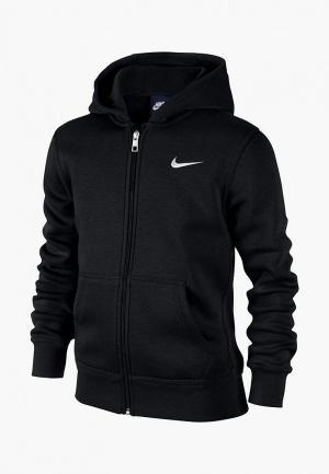 Толстовка Nike B NSW HOODIE YA76 BF FZ. Цвет: черный