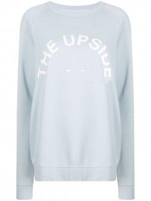 Толстовка с логотипом The Upside. Цвет: синий