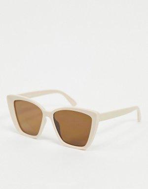 Розовые солнцезащитные очки кошачий глаз -Бежевый AJ Morgan