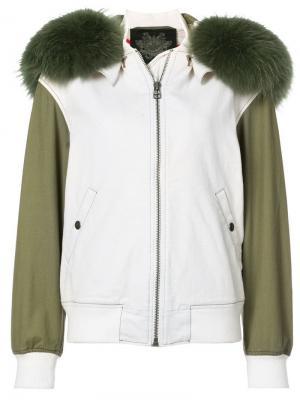 Джинсовая куртка-бомбер Mr & Mrs Italy