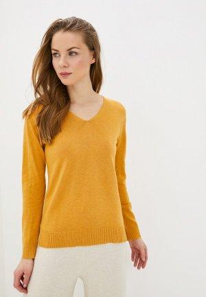 Пуловер Manode. Цвет: желтый