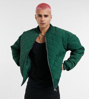 Стеганый бомбер inspired-Зеленый Reclaimed Vintage