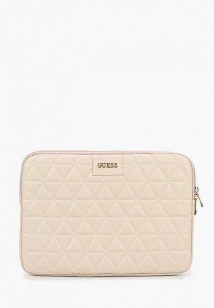 Чехол для ноутбука Guess 13 Quilted Bag Pink. Цвет: бежевый