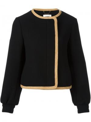 Куртка-бомбер с контрастной окантовкой Chloé. Цвет: чёрный