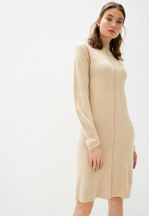 Платье b.young. Цвет: бежевый