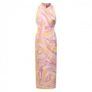 Шелковое платье Emilio Pucci. Цвет: розовый