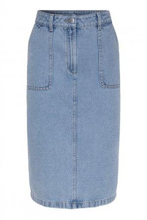 Юбка-карандаш из голубого денима Gerard Darel. Цвет: голубой