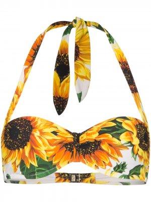 Лиф бикини с принтом Dolce & Gabbana. Цвет: hahh9 multicoloured
