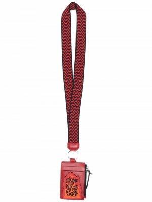 Картхолдер со шнурком на шею LANVIN. Цвет: красный
