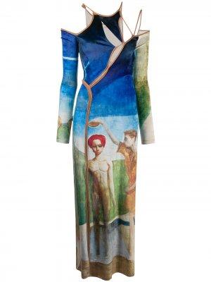 Strappy print dress Ottolinger. Цвет: синий