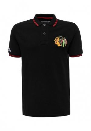 Поло Atributika & Club™ NHL ChicagoBlackhawks. Цвет: черный