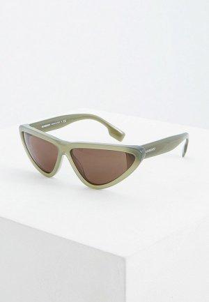 Очки солнцезащитные Burberry BE4292 381382. Цвет: хаки