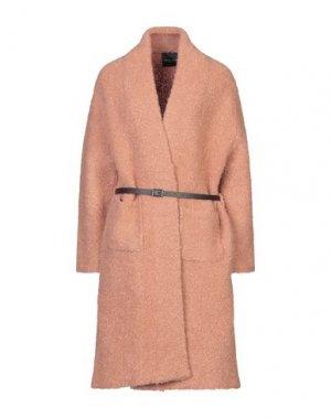 Легкое пальто ROBERTO COLLINA. Цвет: пастельно-розовый