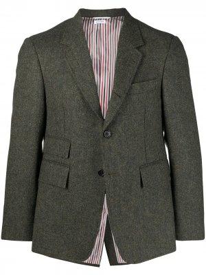 Однобортный пиджак Thom Browne. Цвет: зеленый