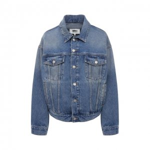 Джинсовая куртка Mm6. Цвет: синий