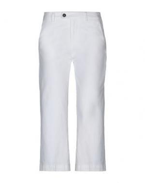Брюки-капри ROŸ ROGER'S. Цвет: белый