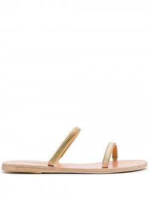Saita chain-detail flat sandals Ancient Greek. Цвет: коричневый