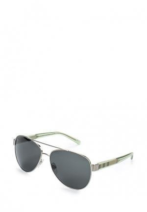 Очки солнцезащитные Burberry BU034DWGFO23. Цвет: серебряный