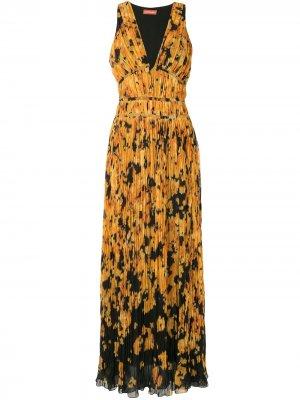 Платье Layla с абстрактным принтом Altuzarra. Цвет: желтый