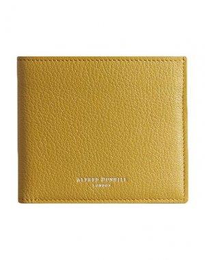 Бумажник DUNHILL. Цвет: кислотно-зеленый