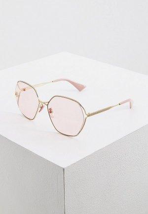 Очки солнцезащитные Gucci GG0818SA. Цвет: золотой