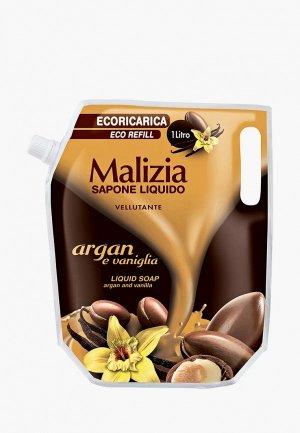 Мыло Malizia Арган и Ваниль, 1000 мл. Цвет: коричневый