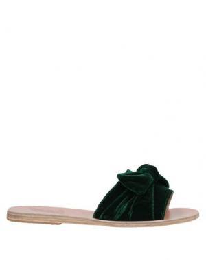 Сандалии ANCIENT GREEK SANDALS. Цвет: темно-зеленый