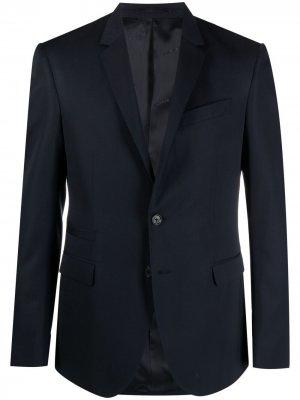 Однобортный пиджак Versace. Цвет: синий