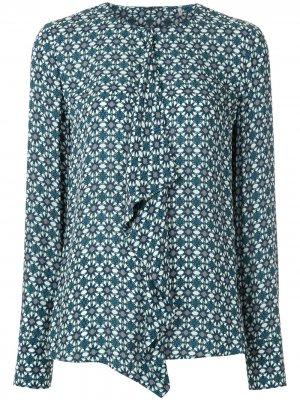 Блузка Pernilla с драпировкой Elie Tahari. Цвет: синий