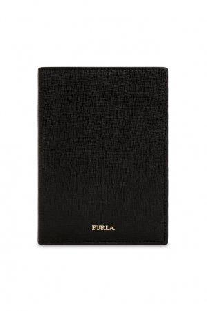 Черная обложка для документов FURLA. Цвет: черный