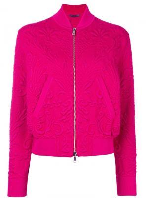 Стеганая куртка-бомбер Alexander McQueen. Цвет: розовый и фиолетовый