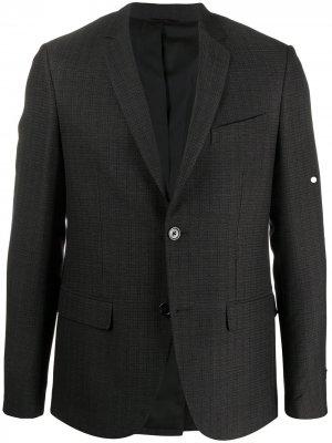 Пиджак с жаккардовым логотипом Fendi. Цвет: черный