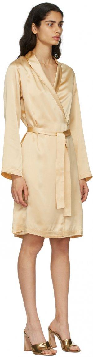 Beige Silk Short Robe La Perla. Цвет: s083 beige