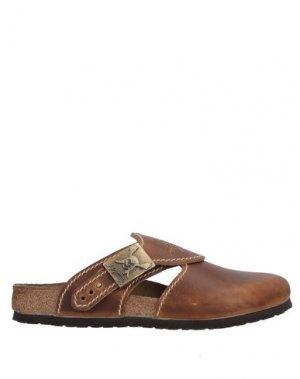 Домашние туфли BIRKI'S. Цвет: коричневый