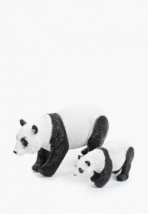 Набор игровой Играем Вместе Мамы и малыши. Панда детёныш, Размер панды: 17,5 см. детёныша: 7,5. Цвет: разноцветный